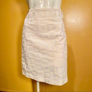 New York & Company white mini skirt, size 6